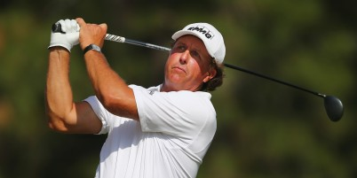 PINEHURST, NC - JUNE 10: Phil Mickelson of the United States hits a tee shot during a practice round prior to the start of the 114th U.S. Open at Pinehurst Resort & Country Club, Course No. 2 on June 10, 2014 in Pinehurst, North Carolina. (Photo by Tyler Lecka/Getty Images)